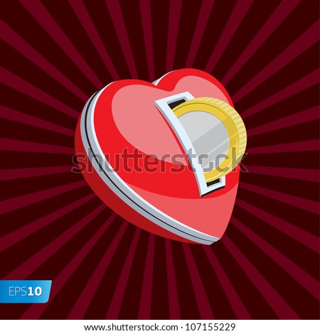 Love for money, vector Eps10 illustration. - stock vector