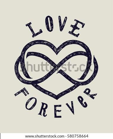 Love Forever Grunge Sign Card Stock Vector 580758664 Shutterstock