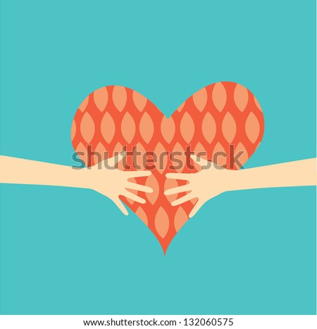 love greeting card - stock vector