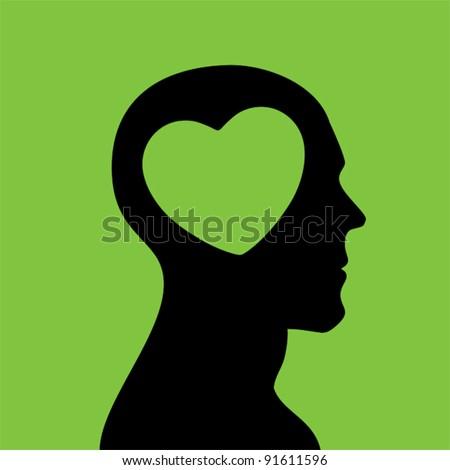 Love head. - stock vector