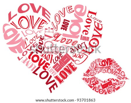 Seamlessly vector wallpaper valentine with hearts and superscription - Stock Photos Royalty Free Images Amp Vectors Shutterstock