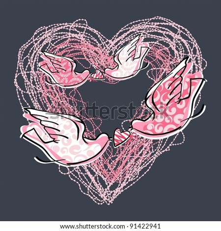 Love Heart-graphic element symbolizing the romance and passion of a sentimental person - stock vector