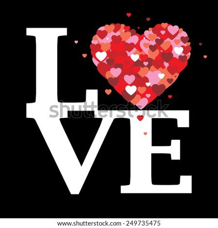 Love hearts - stock vector