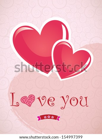 love hearts over pink background vector illustration