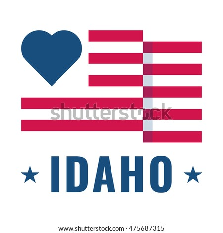 idaho flag stock vectors images vector art shutterstock rh shutterstock com