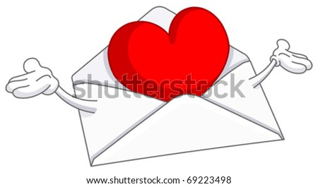 Love letter - stock vector