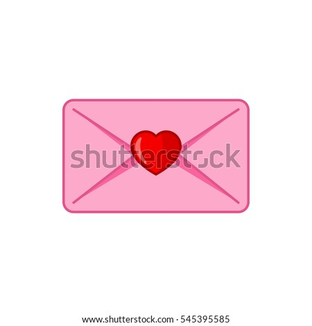 love letter icon illustration isolated vector sign symbol
