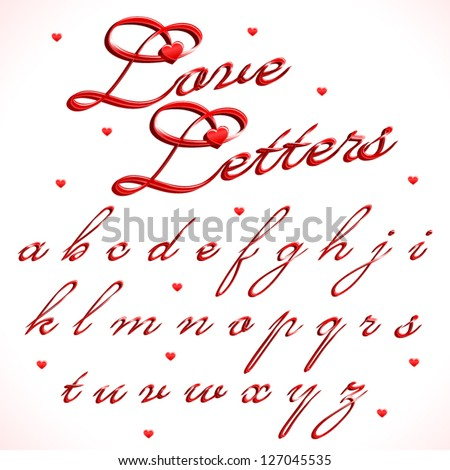 z alphabet love  love-letters-part-of-full-calligraphic-a...