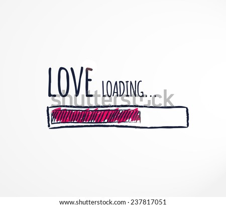 Love loading. Progress bar design. Vector illustration.  - stock vector