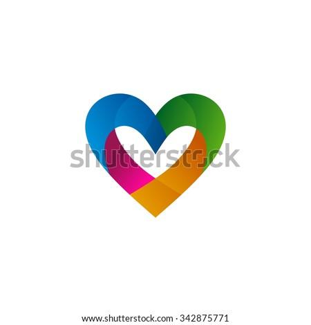 Love Logo Vector Template - stock vector