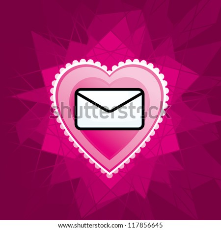 love mail - stock vector