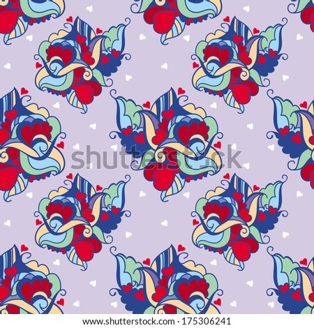 love pattern - stock vector