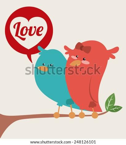 love poster design, vector illustration eps10 graphic  - stock vector