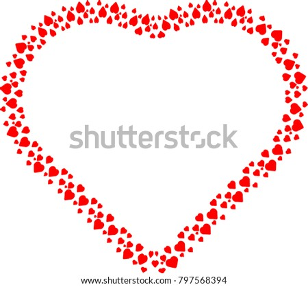 Love Red Frame Valentines Day Heart Stock Vector 797568394 ...