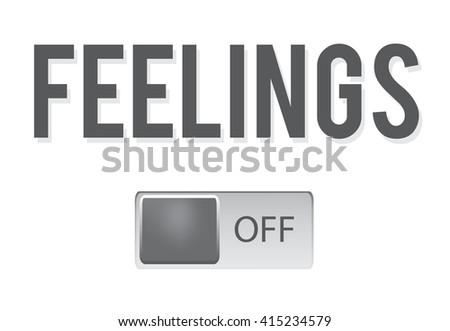 Love, romance, feelings switch on/off slider isolated on white background. Vector art. - stock vector