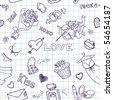 Love Seamless Doodles - stock vector