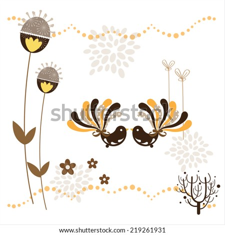 love season - stock vector