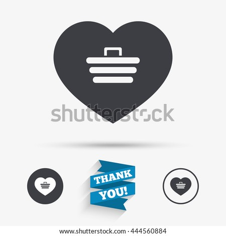 Love Shopping Cart Sign Icon Online Stock Vector 444560884