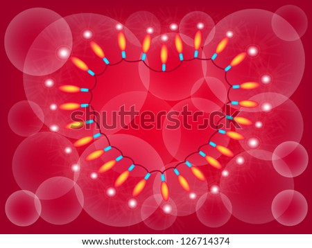 Love Signals Beautiful Frame Made Lights Stock Vector HD (Royalty ...