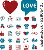 love signs. vector - stock vector