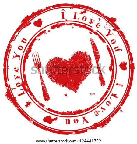 Love stamp - stock vector