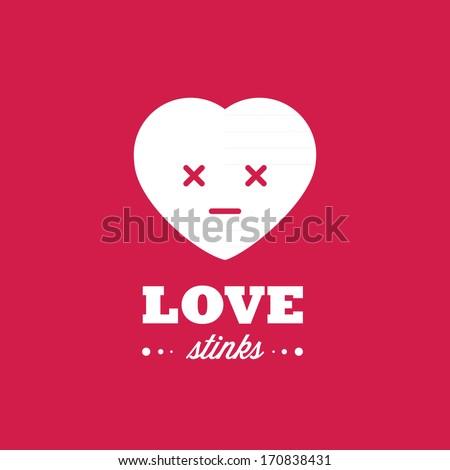 Love stinks - stock vector