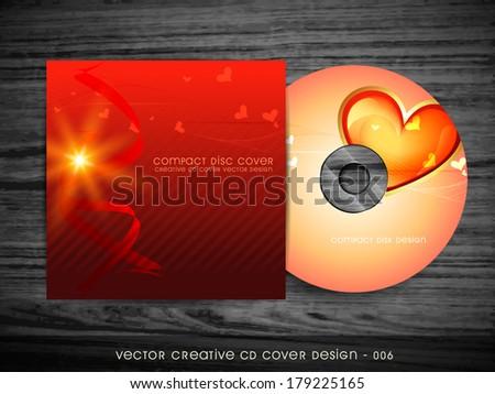 love style cd cover design art - stock vector