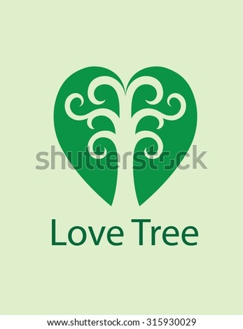 Love Tree Logo, art vector design