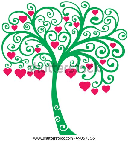 love tree vector - stock vector