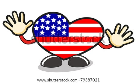 love USA - stock vector