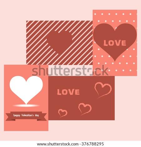 love valentine card - stock vector