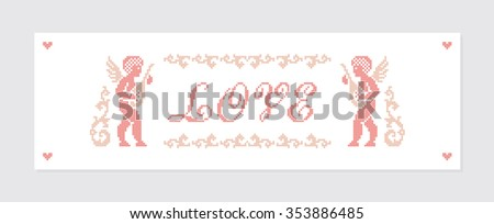 Love. Valentine's day. Greeting card. Vector illustration. - stock vector