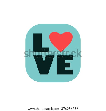Love. Valentines day card. - stock vector