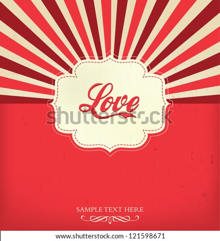 Love - Valentines Design Template - stock vector