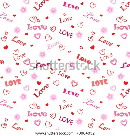 Love word background - stock vector