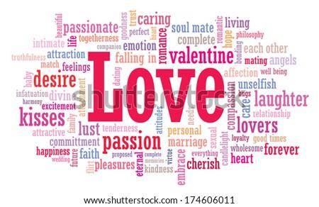 Love word cloud illustration  - stock vector