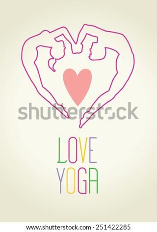 Love Yoga (vector) - stock vector