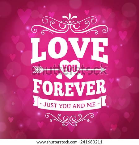 Love you forever typography greeting card stock photo photo vector love you forever typography greeting card background vector design m4hsunfo