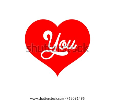 love you text. red color. valentine day. wedding symbol party. vector template instagram