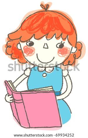 lovely girl - stock vector