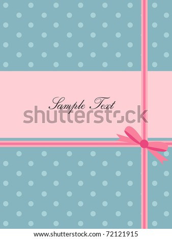 lovely greeting card - stock vector