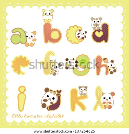 lovely hamster alphabet collection