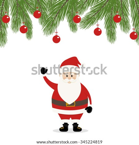 Lovely Santa Claus  - stock vector