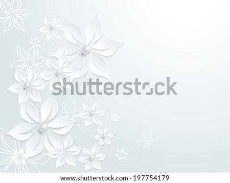 Lovely wedding paper card element pattern design with flowers