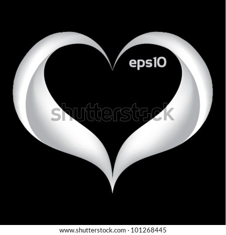 lovely white heart background - stock vector