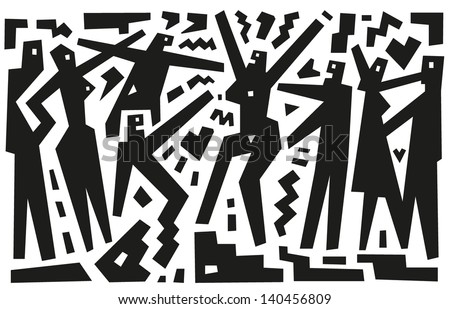 lovers - vector illustration - stock vector