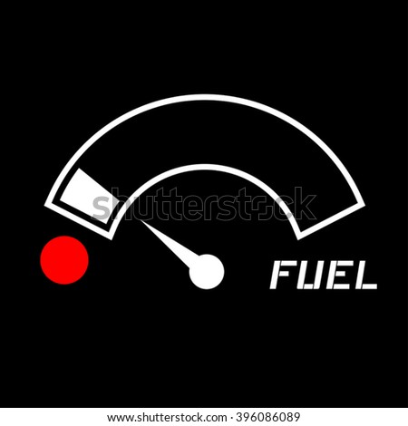 low fuel icon - stock vector