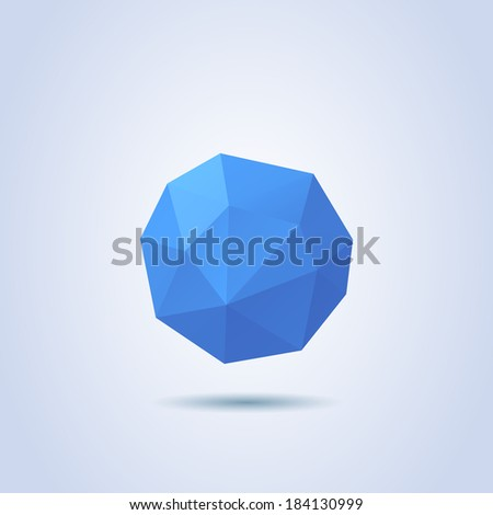 Low-poly Abstract Sphere - stock vector