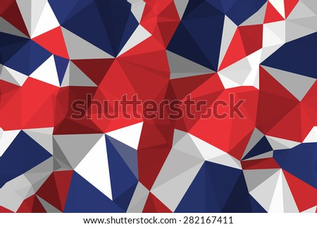Low Poly London Flag On Polygons Texture Background Modern Style