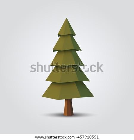 Christmas Tree Stock Vector 352008932 - Shutterstock